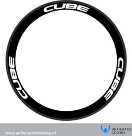Cube velg stickers 1, 6 stuks