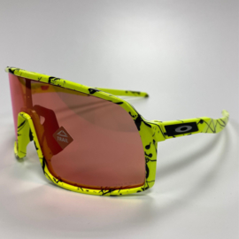 Oakley Sutro S - Fluor Yellow / Black Splatter