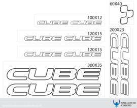 Cube stickers outline