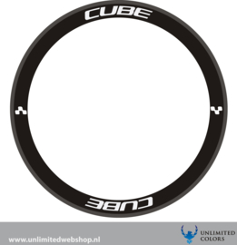 Cube wheel decals 2 new font, 8 pieces
