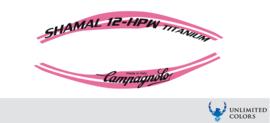 Campagnolo shamal 12-hpw  titanium stickerset