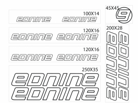 Ednine stickers outline
