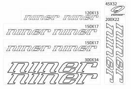 niner stickers outline