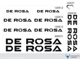 De Rosa stickers nieuw lettertype