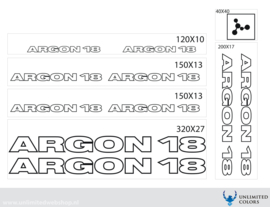 Argon 18 stickers outline