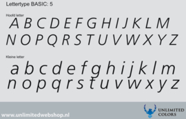 Lettertype basic 5