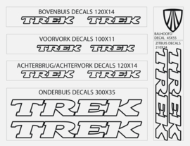 Trek stickers oud font outline