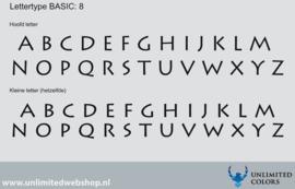 Lettertype basic 8
