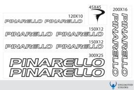 Pinarello stickers, logo tot 2016 outline