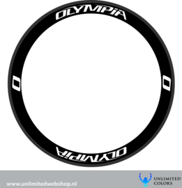 Olympia wheel stickers 2, 8 pieces