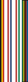 Vlaggen Nederland, België, Italië en WK