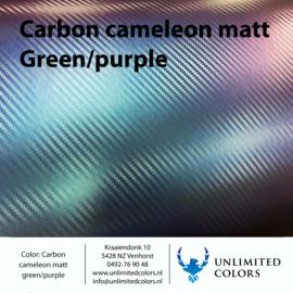 Carbon kameleon mat groen/paars