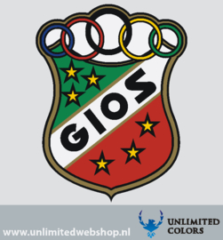 Gios headbadge sticker zwart
