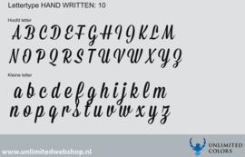 Lettertype handwritten 10