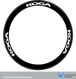 Koga wheel stickers 1, 6 pieces
