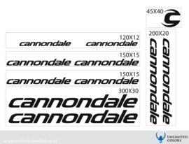 Cannondale font 2 stickers