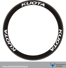Kuota wheel stickers new font, 6 pieces