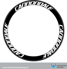 Cannondale  velg stickers, 6 stuks