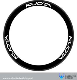 Kuota wheel stickers, 6 pieces