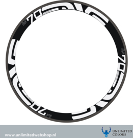 Enve m70 rim stickerset, 6 pieces
