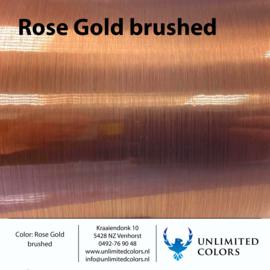 Rosé goud brushed