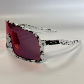 Custom Oakley Sutro - White / Splatter Black