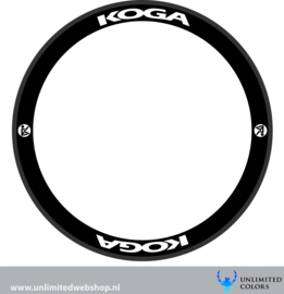 Koga wheel stickers 2, 8 pieces