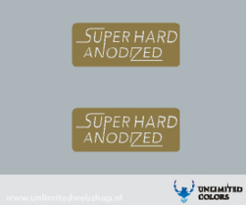 Araya Super Hard Anodized velg sticker - 2 stuks