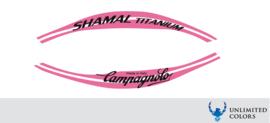 Campagnolo shamal  titanium stickerset