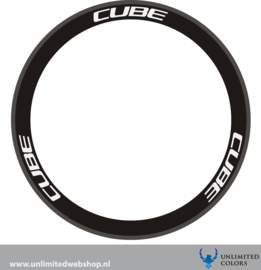 cube wheel decals 1 new font, 6 pieces