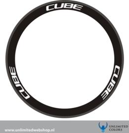 Cube velg stickers 1 nieuw lettertype, 6 stuks