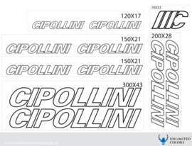 Cipollini stickers outline