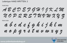 Lettertype handwritten 2