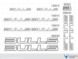 Bulls sticker outline