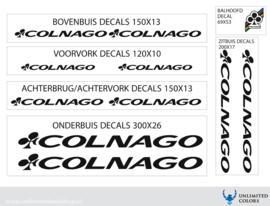 Colnago stickers nieuw lettertype