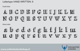 Lettertype handwritten 8