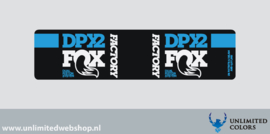 Fox DPX2 demper sticker