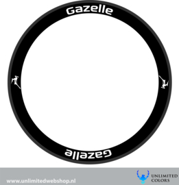 Gazelle wheel stickers 2, 8 pieces