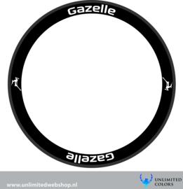 Gazelle velg stickers 2, 8 stuks