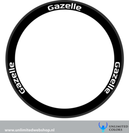 Gazelle wheel stickers 1, 6 pieces