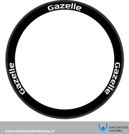 Gazelle velg stickers 1, 6 stuks