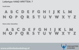 Lettertype handwritten 7