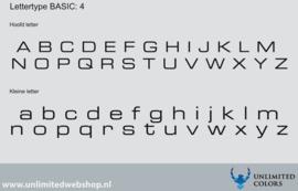 Lettertype basic 4