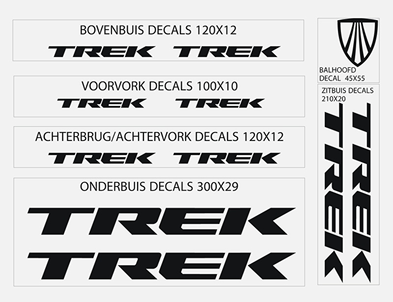 Trek stickers