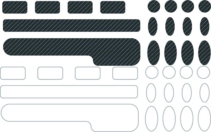 Kettingbeschermers transparant of carbon