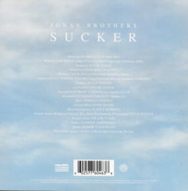 Jonas Brothers - Sucker (Amerikaanse uitgave, limited edition clear vinyl)