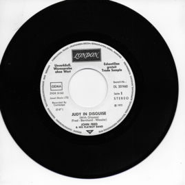 John Fred & his Playboy Band - Judy in disguise / When the lights go out (Duitse promo uitgave)