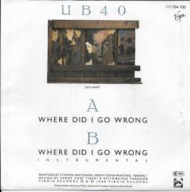 UB 40 - Where did i go wrong