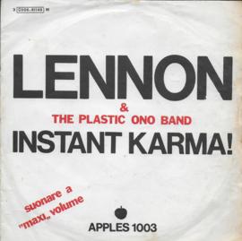 John Lennon & Plastic Ono Band - Instant karma! (Italiaanse uitgave)