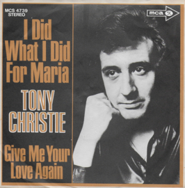 Tony Christie - I did what I did for Maria (Duitse uitgave)